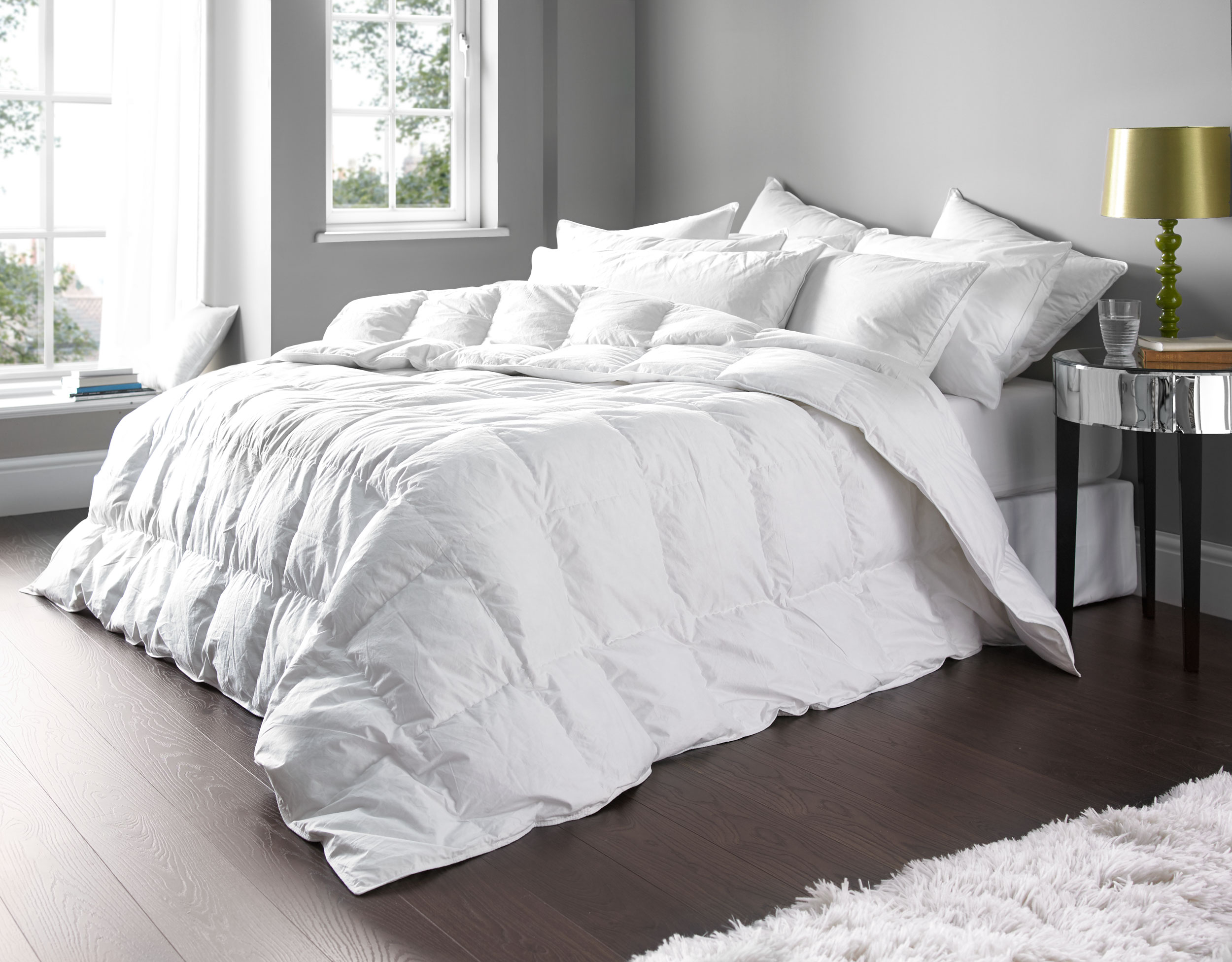 and down tog feather duvet premium double goose